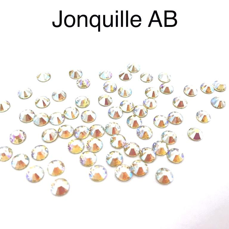 Strass hotfix thermocollant ss20 5mm jonquille ab