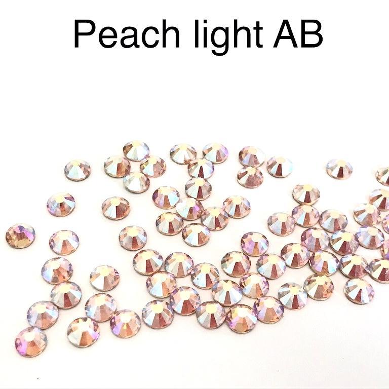Strass hotfix thermocollant ss20 5mm peach light ab