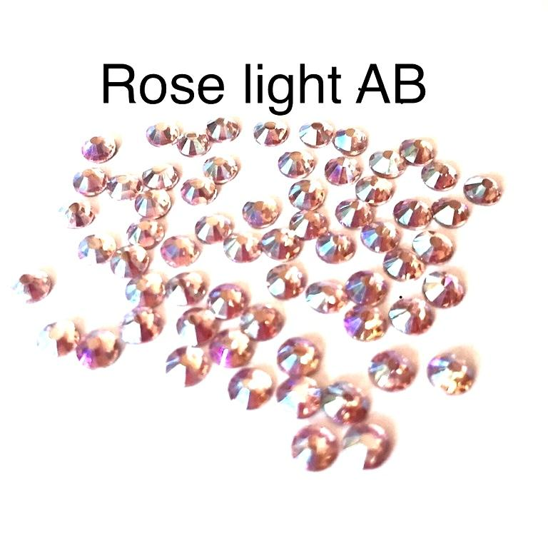 Strass hotfix thermocollant ss20 5mm rose light ab