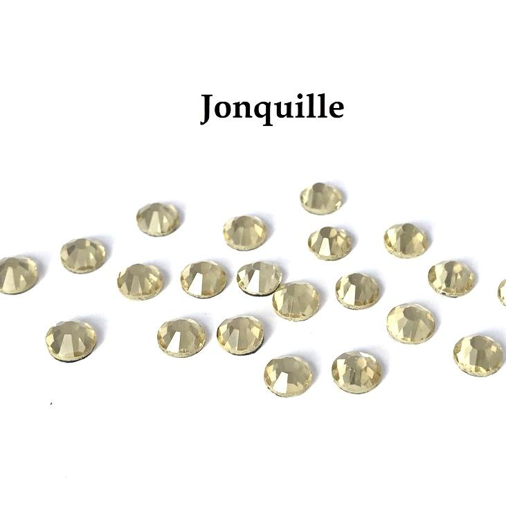 Strass hotfix thermocollant ss20 jonquille 5mm