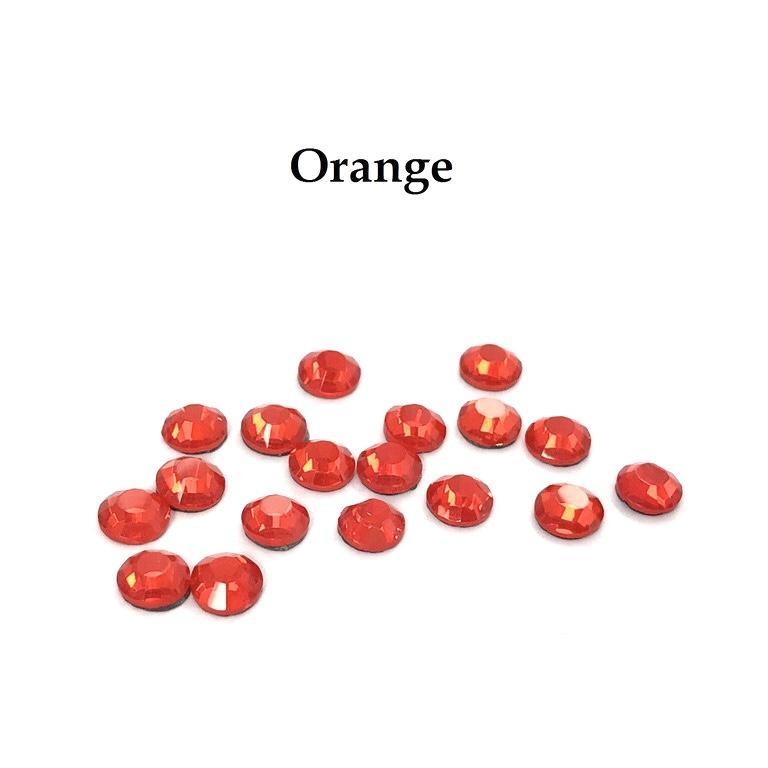 Strass hotfix thermocollant ss20 orange 5mm