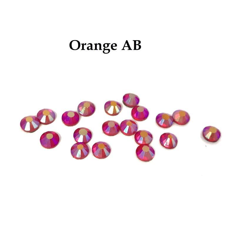 Strass hotfix thermocollant ss20 orange ab 5mm