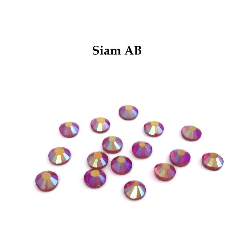 Strass hotfix thermocollant ss20 siam ab 5mm