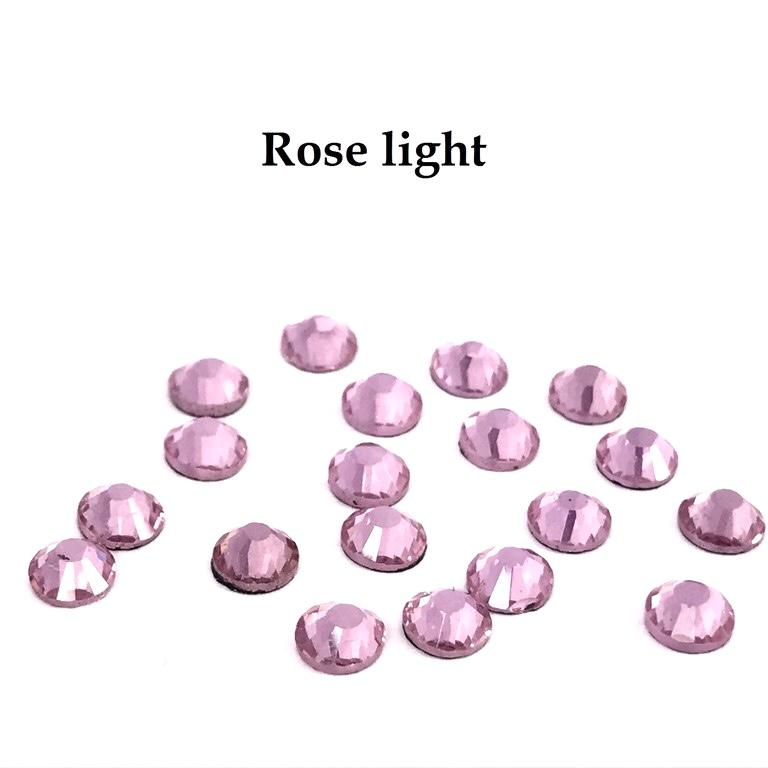 Strass hotfix thermocollant ss34 rose light 7mm